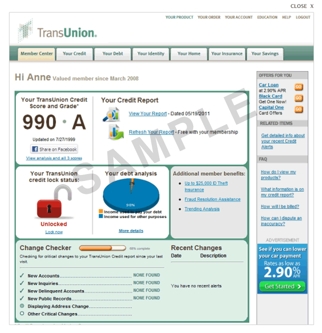 transunion credit reports scores guide. Black Bedroom Furniture Sets. Home Design Ideas