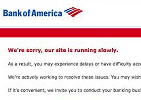 Problems Persist on the BofA Website for a Fourth Day