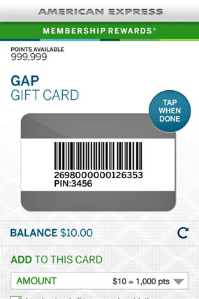 AmEx Membership Rewards Points Go Mobile
