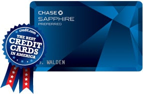 Best Airline Rewards - Chase Sapphire Preferred