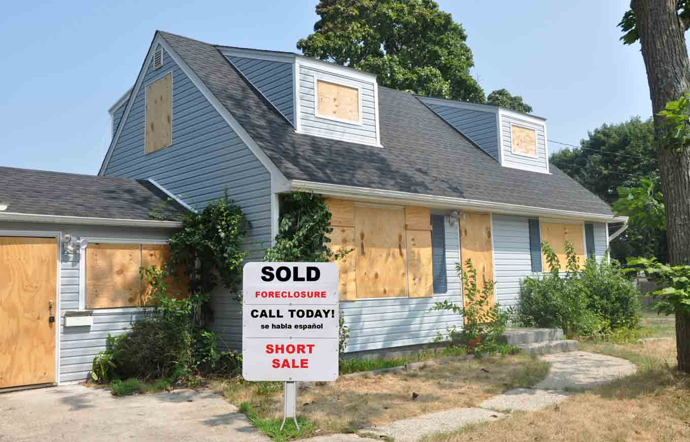 taxes on a foreclosed home