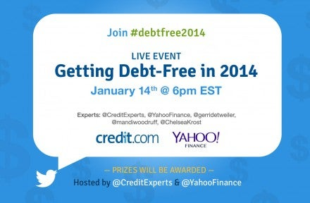 Join Us for a Twitter Chat: Getting Debt-Free in 2014