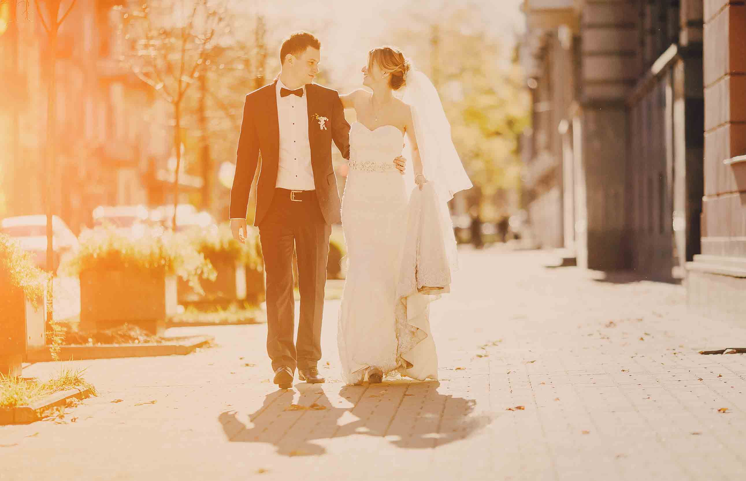And you are not confused by this photo of the newlyweds