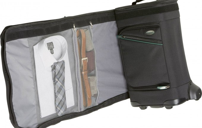 Jos A. Bank Bankroll Rolling Luggage with Garment Bag
