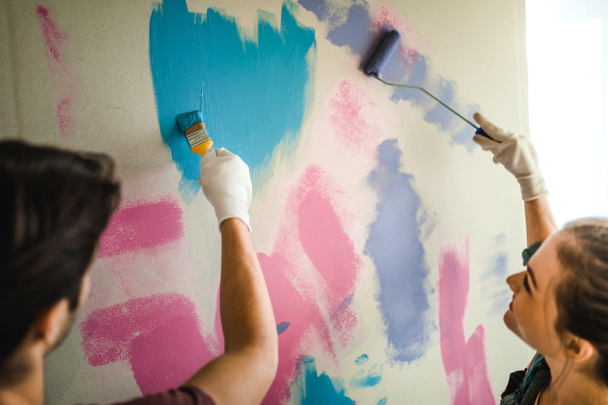 couple making home renovations