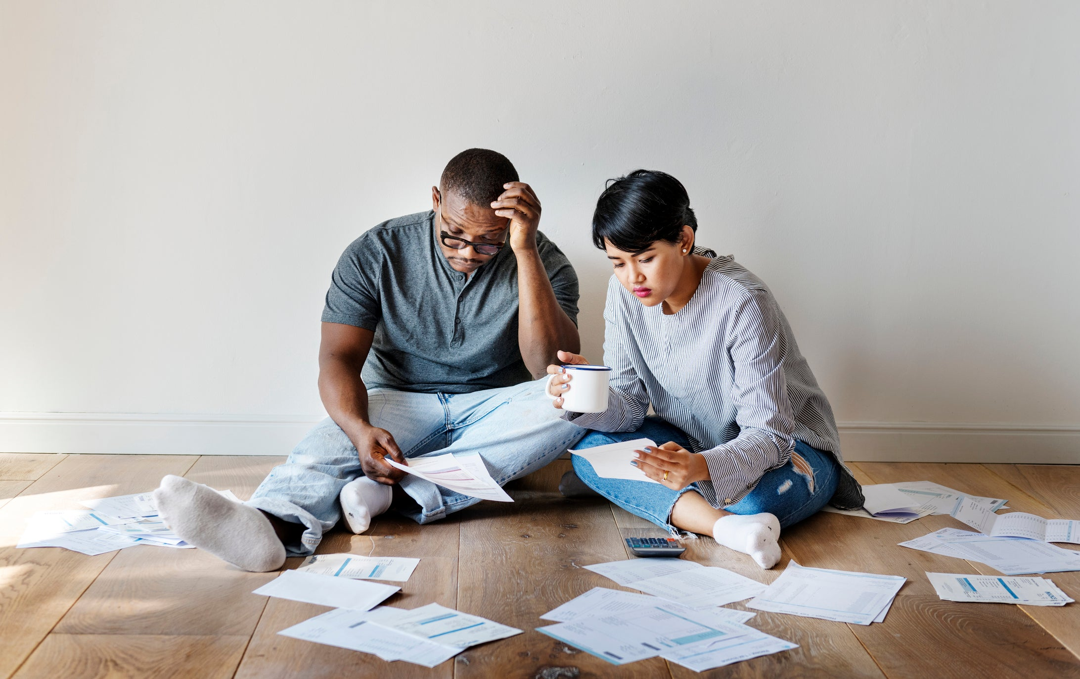 couple is dealing with their finances and the effect on relationship