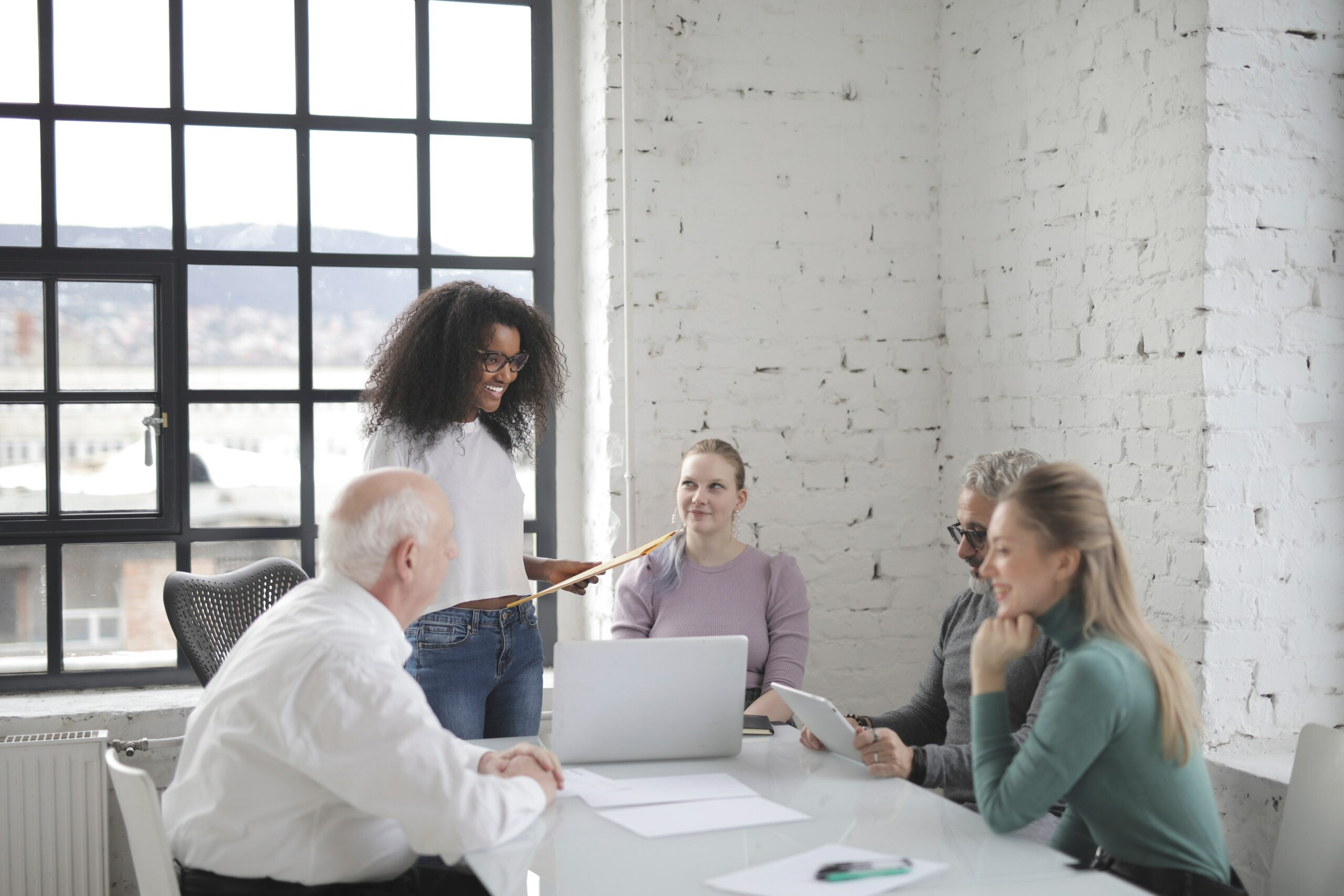 A group of professionals discuss how to stay on top of business finances