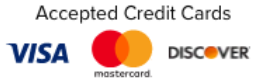 We accept Visa, Discover, and Mastercard bankcards.