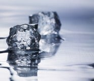 melting ice cubes represent credit freeze and credit lock