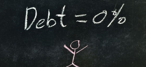 debt=0% on blackboard to show how to get out of debt