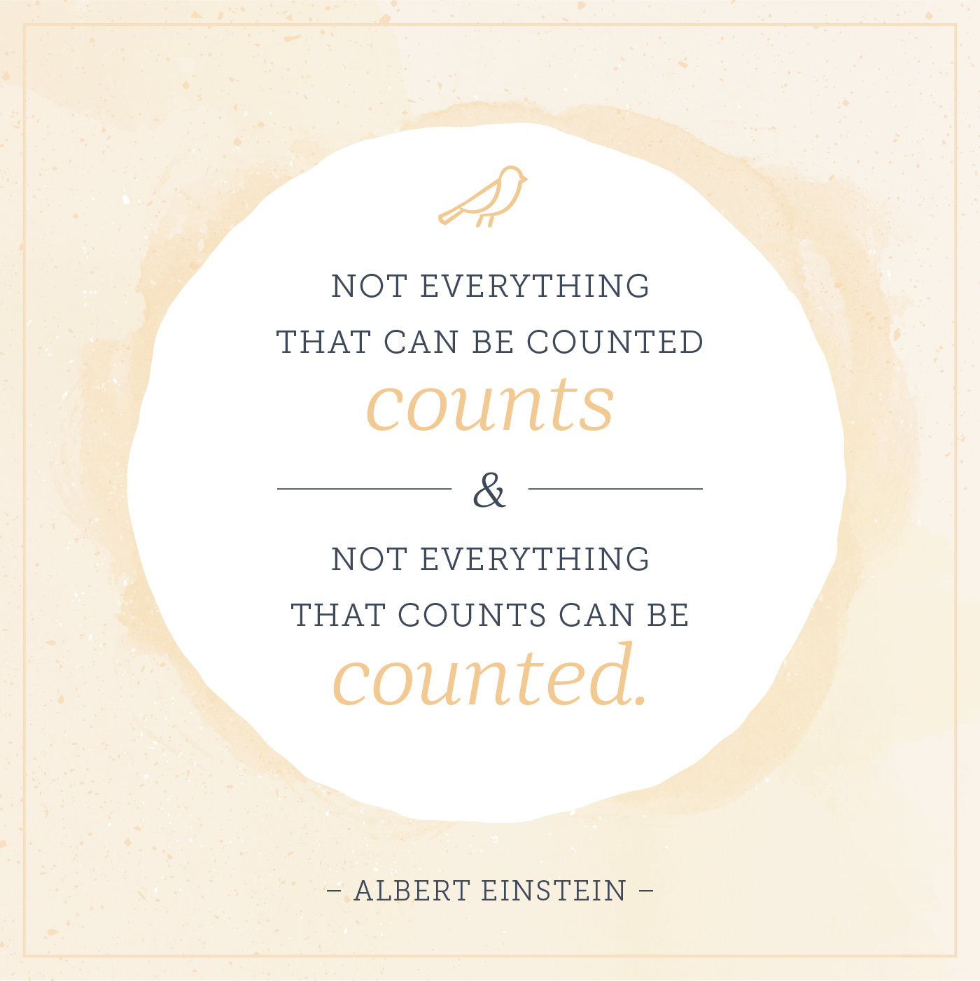 not everything that counts can be counted and not everything that counts can be counted