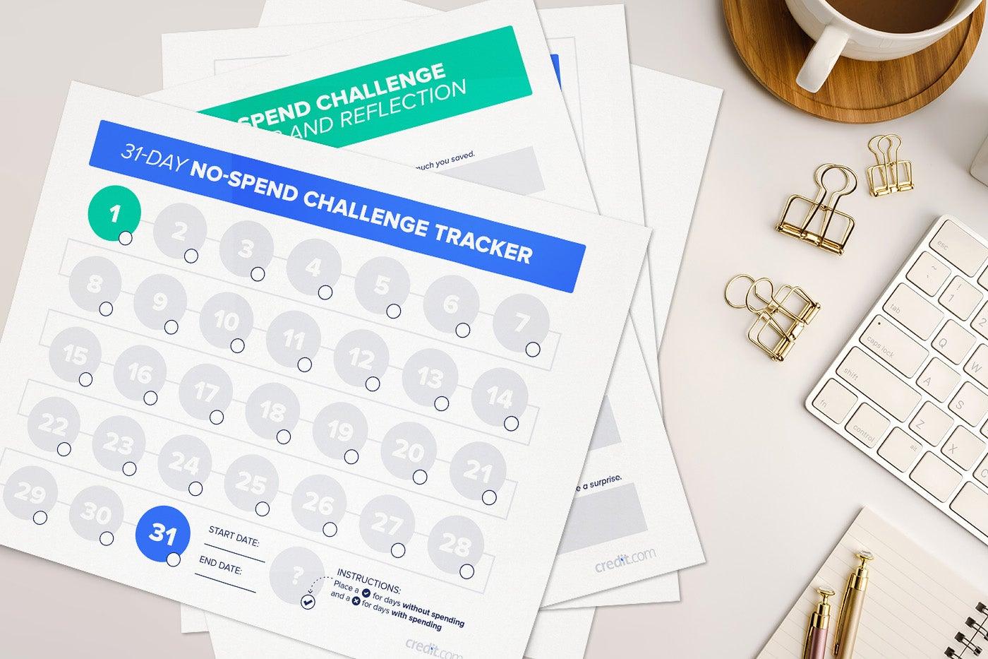 no spend challenge worksheets